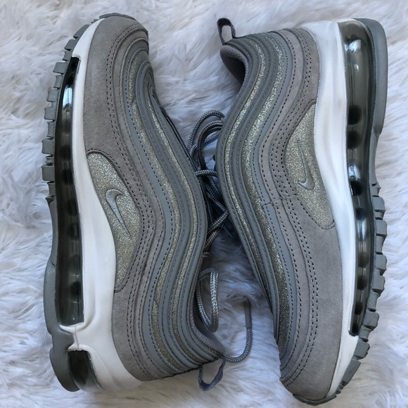 f76db4a55b75 Nike Shoes | Womens Air Max 97 Silver Suede Sparkle Pack | Poshmark